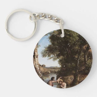 Camille Corot- The Baptism of Christ Acrylic Key Chains