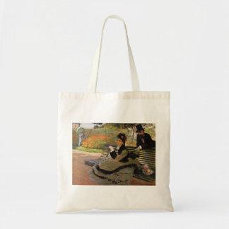 Camille Monet on a Garden Bench - Claude Monet