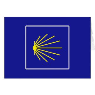 Camino de Santiago Sign, Spain Card