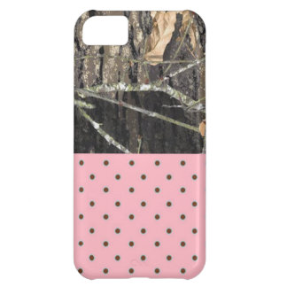 Camo and Pink/Brown Polka Dot 5/5S Barely There iPhone 5C Case
