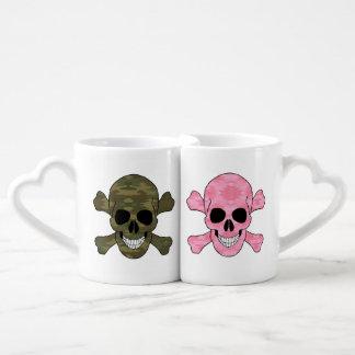 Camo And Pink Camo Skulls His And Hers Mug Set Lovers Mug