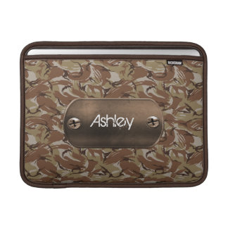 camo army brown personalized MacBook sleeves