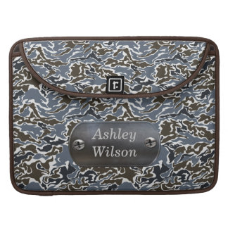 camo army gray personalized sleeves for MacBook pro