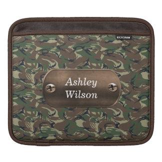 camo army green personalized iPad sleeve