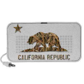 Camo California Bear Travel Speakers