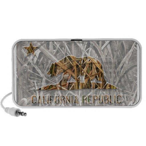 Camo California Bear iPod Speakers