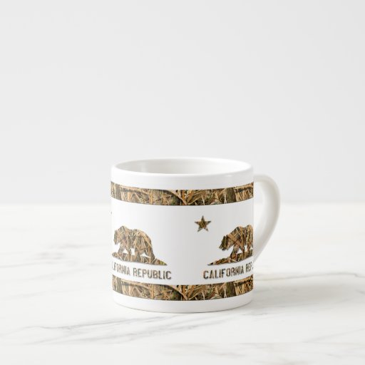 Camo California Bear Espresso Cups