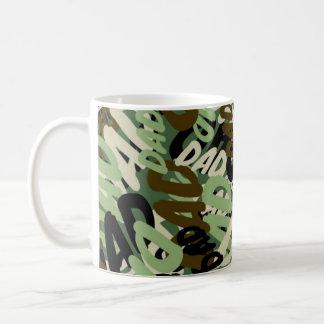 Camo camouflage DAD text mug