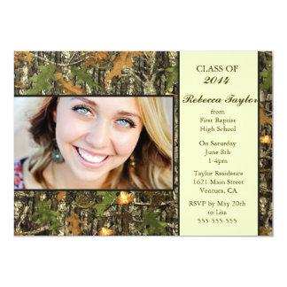 """Camo Class of 2014 Graduation Invitation 5"""" X 7"""" Invitation Card"""