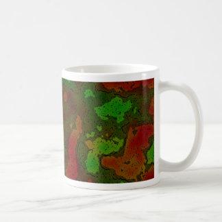 camo colour splash basic white mug