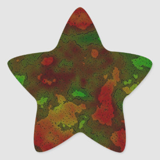camo colour splash star sticker