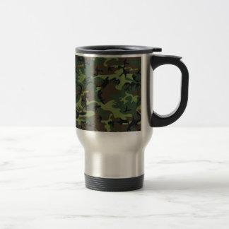 [CAMO-GR-1] Green and brown camo Stainless Steel Travel Mug