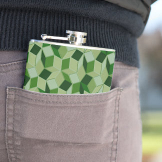 Camo Green Penrose Patterned Flask