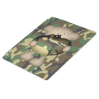 Camo Heart Military Teddy Bear iPad Cover