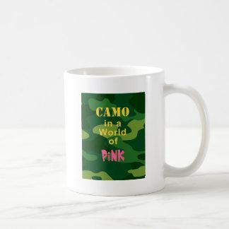 Camo in Pink Basic White Mug