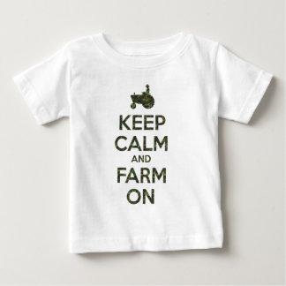 Camo Keep Calm and Farm On Baby T-Shirt