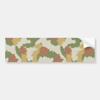 Camo pattern bumper sticker