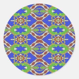 Camo Pattern Classic Round Sticker
