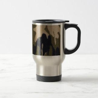 Camo Print Jungle Green/Black for Hunters Travel Mug