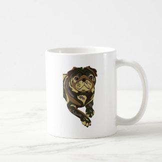Camo Pug Basic White Mug