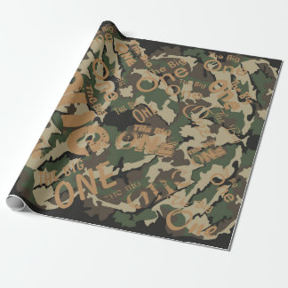 "Camo The Big One Wrapping Paper 30"" x 6'"