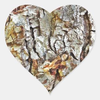 Camo Tree Bark Heart Sticker
