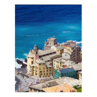 Camogli, aerial view postcard