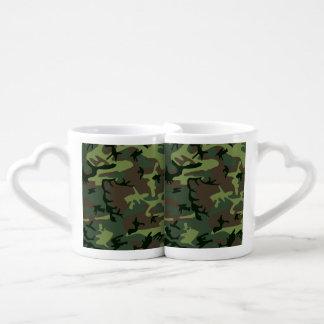 Camouflage Camo Green Brown Pattern Coffee Mug Set