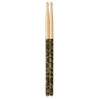 Camouflage Cheetah Abstract Drum Sticks