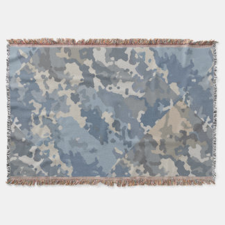 Camouflage Clouds Throw Blanket