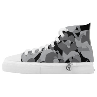 Camouflage design pattern high tops