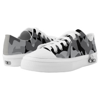 Camouflage design pattern low tops