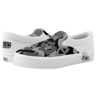 Camouflage design pattern Slip-On shoes
