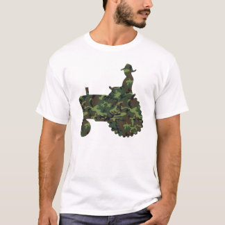 Camouflage Farmer on Tractor t shirt