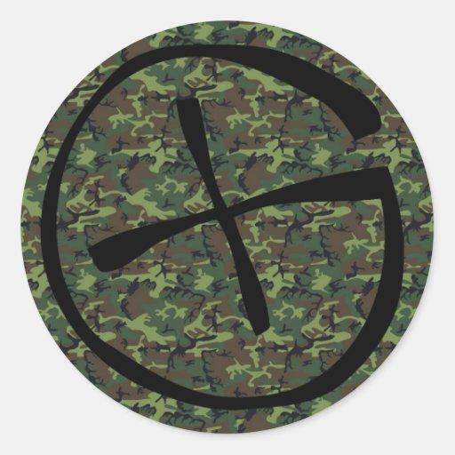 Camouflage geocache sticker
