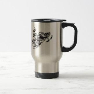 Camouflage Grey Snowmobiler Travel Mug