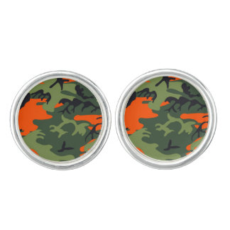 Camouflage Orange Hunter Cuff Links