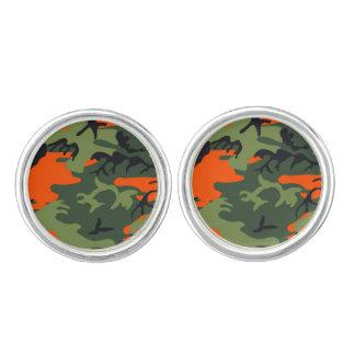 Camouflage Orange Hunter Cuff Links