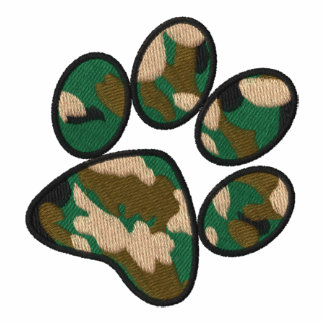 Camouflage Paw Print
