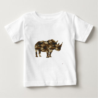 Camouflage Rhinoceros Silhouette Baby T-Shirt