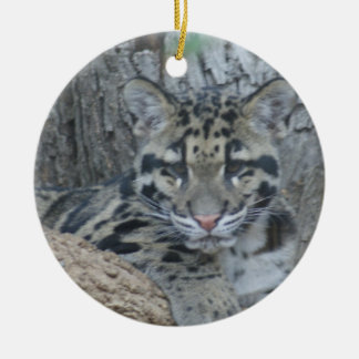 CAMOUFLAGED CLOUDED LEOPARD CUB ORNAMENT