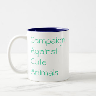 Campaign Against Cute Animals, protecting the Two-Tone Coffee Mug