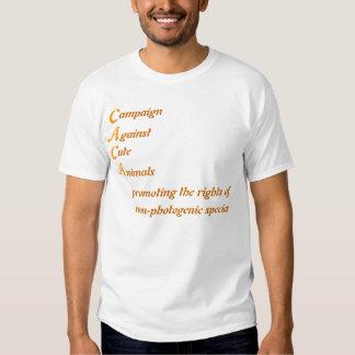 Campaign against cute animals tshirts