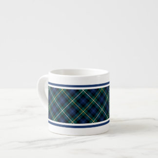 Campbell Clan Navy Blue Scottish Tartan Espresso Cup