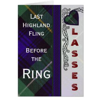 Campbell of Argyll Scottish Tartan Card