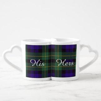 Campbell of Breadalbane Plaid Scottish tartan Coffee Mug Set