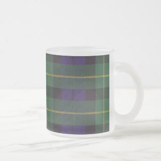 Campbell of Breadalbane Plaid Scottish tartan Frosted Glass Coffee Mug