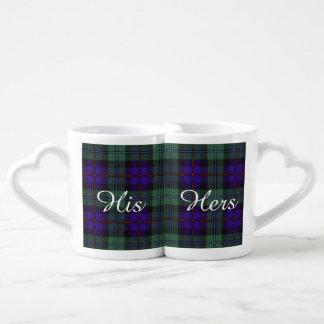 Campbell of Cawdor clan Plaid Scottish tartan Coffee Mug Set