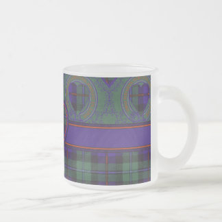 Campbell of Cawdor clan Plaid Scottish tartan Frosted Glass Coffee Mug