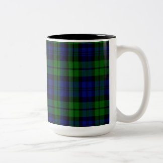 Campbell Scottish Tartan Two-Tone Coffee Mug